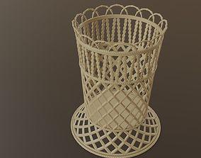 Mini Decorative Plastic Basket 3D model