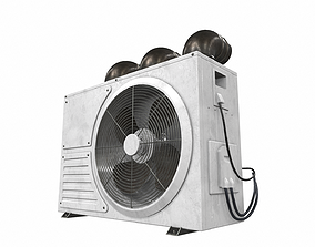 window 3D model Air conditioner outdoor 1a