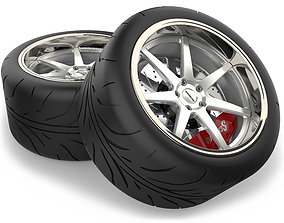3D Wheel and Tire-3