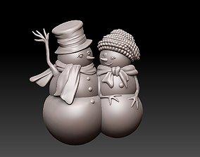 sculptures 3D print model snowman