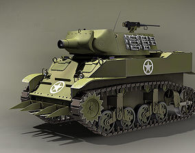 3D model 75 mm M8 HMC USA 1942