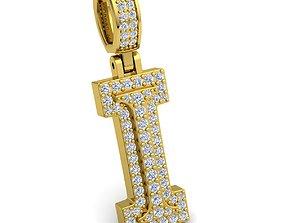 Alphabet Latter I Diamond Pendent 3d Model
