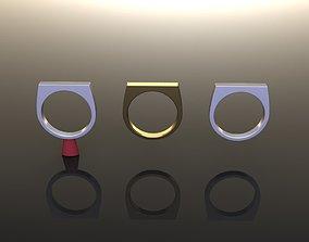 3D print model Dainty Narrow Bar Ring Band Mix Sizes