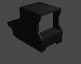 3D asset Optical sight for weapons