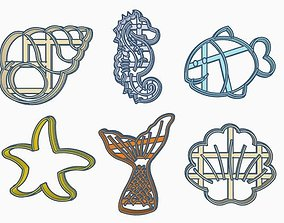 3D printable model Sea Cookie Cutter Set