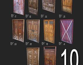 3D asset 10 Low Poly Door