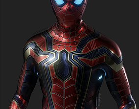 3D asset Iron Spider Avengers Suit Rigged