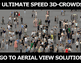 game-ready 3D PEOPLE CROWDS - TOTAL PACK - ULTIMATE SPEED