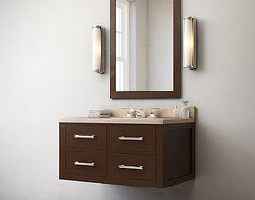 3D model RH Hutton single floating vanity espresso