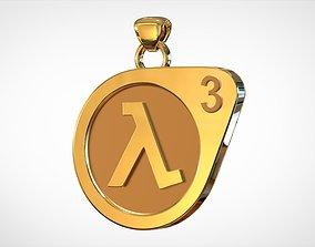 3D printable model Half-Life 3 Logo Pendant