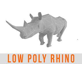 Rhino Low Poly Rhinoceros Lowpoly 3D asset