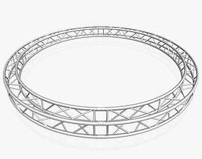 3D model Circle Square Truss - Full diameter 400cm