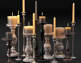 candlestick full set 3D model