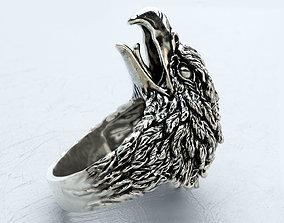 Screaming eagle ring glam 3D print model