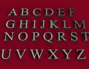 TIMES NEW ROMAN font uppercase and lowercase 3D letters 1