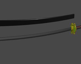 3D printable model erza scarlet samurai sword katana