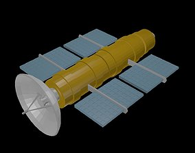 Low poly satellite 3 3D model