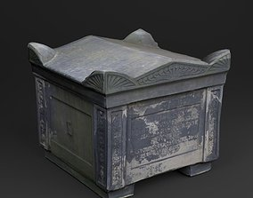 3D Scanned Tombstone - 02 low-poly game-ready