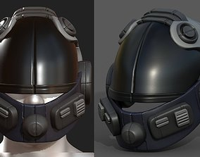 3D asset Helmet scifi fantasy futuristic technology