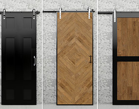 Slider Rustic door - read the description - 3D