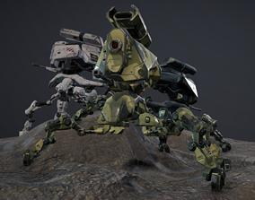 Robot 2 3D asset animated
