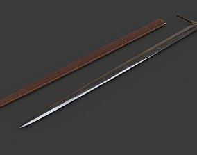 weapon 3D model game-ready Bastard Sword