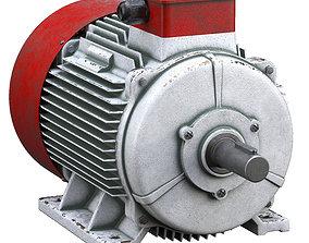 Electric motor 3D model steel