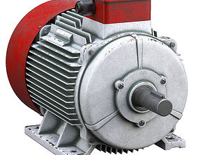 electricity Electric motor 3D model