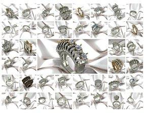 50 TURKEY DESIGNS DIAMOND RINGS 3DM DETAILS
