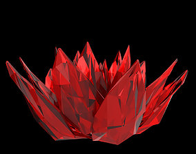 3D model Abstract Lotus Crystal