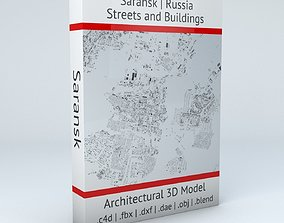 3D model Saransk Streets and Buildings