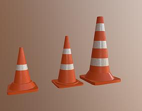 3D model Road Cones Traffic cones