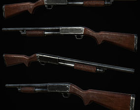 Ithaca 37 Shotgun M37 PBR MODEL UNITY UNREAL realtime