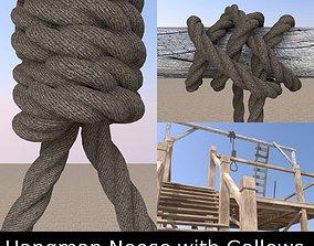 3D model Hangman Noose and Gallows