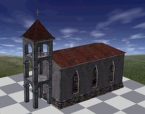 3D asset Church Classic Textured