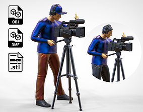 N2 Cameraman with Hat and Headphone 3D printable model 3