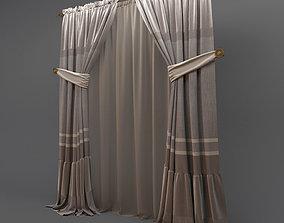 3D model Classic curtains 2