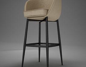 HD modern bar stool 3D model