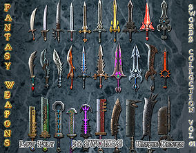 3D model Medieval Fantasy Weapon Sword Collection VOL01