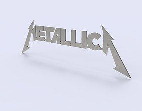 Metallica Logo for 3D print and laser cutting from sheet