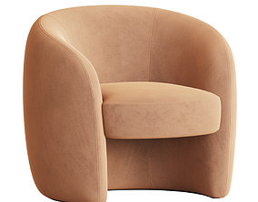 3D model Natalie Barrel Chair Allmodern