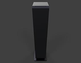 3D asset Tower Speaker V02 - Low Poly