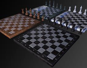3D asset Chess Set