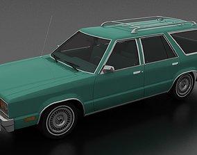 3D model Fairmont 4dr station wagon 1978