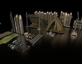 3D model Game Ready Forset pack D180326