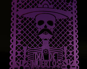day of the dead ornament 3D printable model