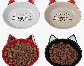 Cat dishes 3D model