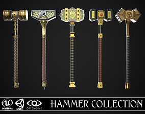 3D PBR Fantasy Great Hammers Collection