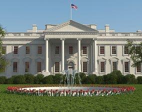 The White House 3D model landmark