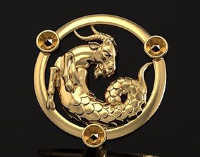 Pendant Zodiac of Capricorn 028 3D printable model